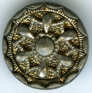 Antique Metal Buttons (5),  Silver? C 1860s? photo