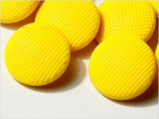 (12) 18 Mm 20´s Vintage Czech Deco Cannary Yellow Glass Buttons photo