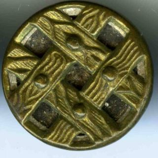 Antique Brass Strap & Steel Buttons (12),  19th C. photo