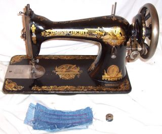 Serviced Antique 1902 Singer 15 - 30 Sphinx Treadle Only Sewing Machine See Video photo