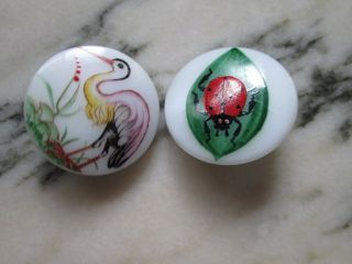 Vintage Buttons Handmade Painted In Czech Republic The Are From Glass photo