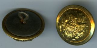 Antique Uniform Buttons (4),  C.  1910? Military? photo