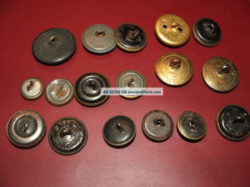 17 Different Old/antique/vintage Navy Buttons