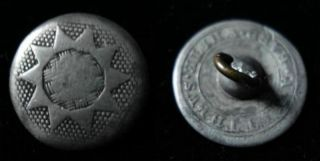 2 Marked Matthews American Pewter Buttons Early 1800s Tough To Find photo