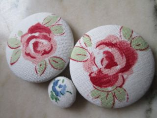 Vintage Buttons From Fabric Flower/france photo