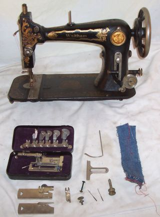 Rare Antique Waltham American Sphinx Treadle Sewing Machine - Serviced See Video photo