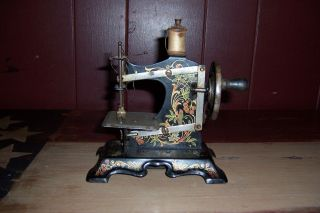 Antique Vintage Pre Wwii Toy Sewing Machine German? F.  W.  Mullen? photo