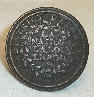 Hard To Find : French Revolutionary Era Button Of The « Garde Nationale » 1790 photo