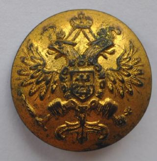 1900s Imperial Russia Army Uniform Gold Gilded Button Kopeikin St.  Petersburg photo
