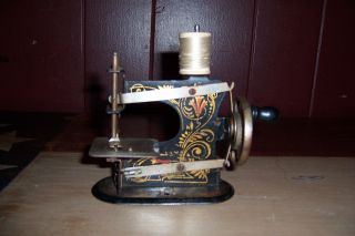 Antique Vintage German Toy Sewing Machine Very Early 1900s Very Rare photo