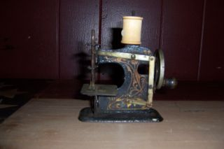 Antique Vintage German Toy Sewing Machine Pre Wwii Very Rare photo