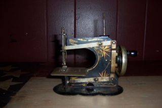 Antique Vintage German Toy Sewing Machine Early 1900s Very Rare photo