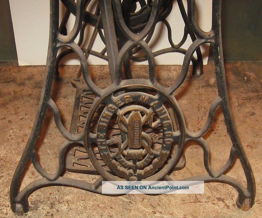 Antique machine age cast iron singer treadle sewing machine legs antique machine age cast iron singer treadle sewing machine legs table base watchthetrailerfo