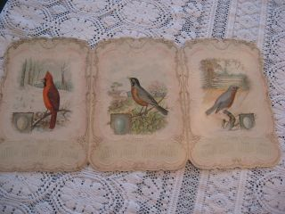 Rare Vintage Singer Sewing Machine Co.  Calendar 1899 Tri - Fold W/birds - Poems Rare photo