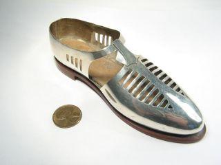 Unusual English Art Deco Silver Shoe Pin Cushion C1926 photo