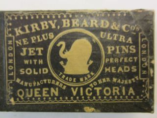 19th Century Kirby,  Beard & Co - Jet Pins - Queen Victoria photo