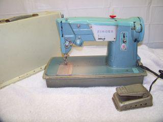 Excellent Vintage 1964 Singer Great Britain Metal Sewing Machine Ser 361864 photo