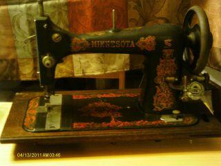 Vintage Minnesota Sewing Machine.  Steam Punk/retro/ 50 ' S Decor/movie Props. photo