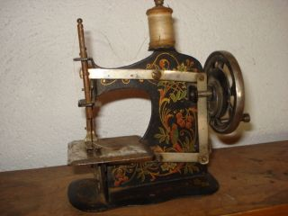Antique 19c Germany Toy Shewing Machine Rare photo