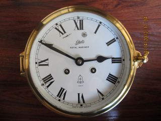 Vintage Schatz Royal Mariner Ships Clock Germany,  Estate Sale,  No Key photo