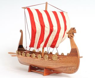 Drakkar Dragon Viking Wood Ship Model Boat 25