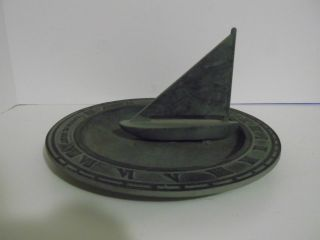 Vintage Sailing Mariner ' S Sundial Yard Accessory photo