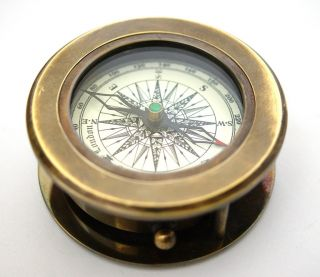 Brass Compass With Magnifying Glass – Brass Compass photo