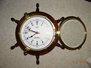 Nantucket Ships Wheel Clock photo