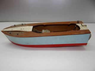 Antique Old Small Wood Wooden Made In Japan Model Ship Boat Kit Rc Nr photo