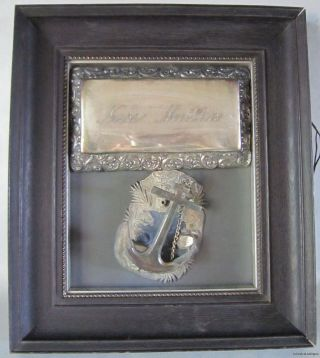 Antique Tribute Framed Polish Sailor Shadow Box W/ Anchor - Nabe Matka Victorian photo