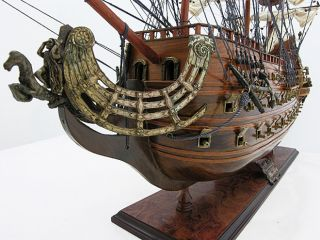 Soleil Royal Wooden Tall Ship Sailboat Model 36