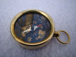 Brass Pocket Compass Magnetic Nautical Camping Hiking photo
