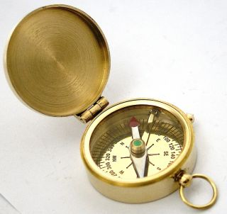 Brass Direction Compass Pocket Compass - Epstein London photo
