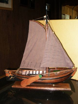 Nautical Collectible Wooden Dutch Botter 1900 ' S Style Model Ship New From A.  M. photo