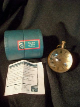 Eye Of Time Clock Bronze Finish Timepiece Watch Magnifying Glass Nibnib photo