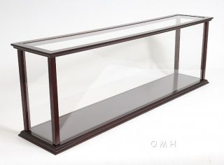 Wooden Table Top Ship Model Display Case Ocean Liner photo