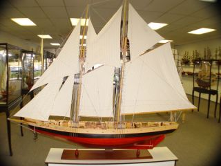 Xl Schooner Bluenose Ii Wood Ship Sailboat Model 100.  5