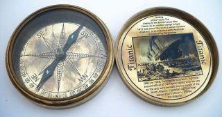 Collectables Brass Compass – Titanic Brass Compass – Solid Brass photo