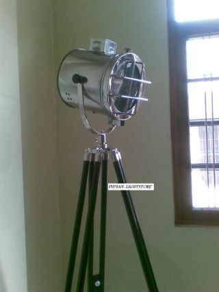 Nautical Search Light,  With Floor Tripod Stand Black Tripod photo