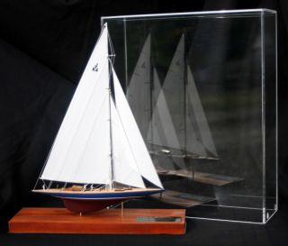 Endeavour 1934 Americas Cup Yacht J Boat Desk Model Miniature Sailboat Abordage ' photo