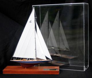 Endeavour 1934 Americas Cup Yacht J Boat Desk Model Miniature Sailboat Abordage ' photo