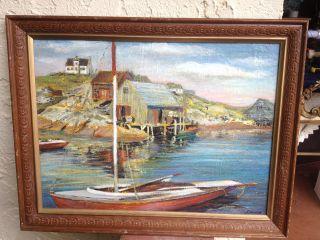 American Impressionist Seascape Acrylic Oil Painting By S Jordan Fairfield photo