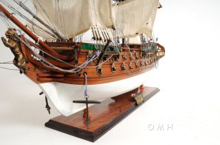 Danish Norske Love Wood Painted Model Tall Ship 38 Boat photo