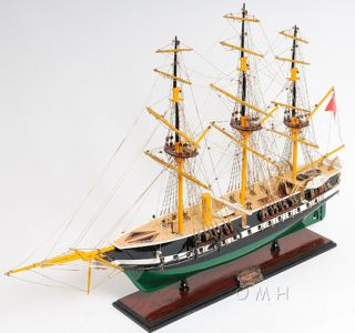 Fregatten Jylland Wood Steam Tall Ship Boat Model 39