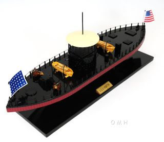 Uss Monitor Civil War Ironclad Wooden Ship Scale Model 24