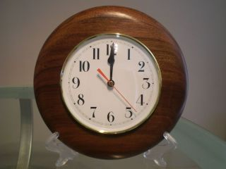 Queensland Walnut Wood Turned Wall Clock photo