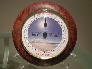 Western Australia Jarrah Burl Wood Turned Wall Tide Clock photo