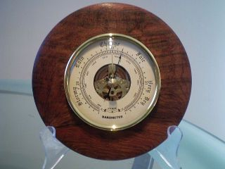 Snakewood Wood Turned Wall Barometer photo
