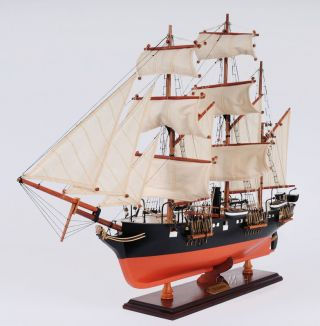 Confederate Css Alabama Civil War Wooden Ship Model 32