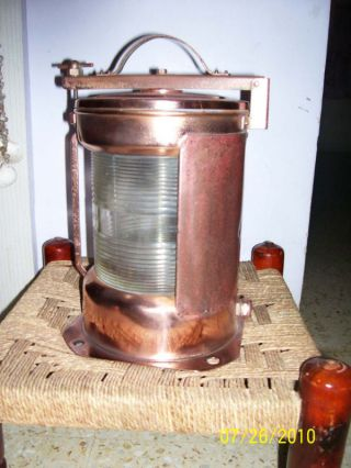 Marine Ship Vintage Star Board Electric Lamp Antique From Old Ship Copper Made photo